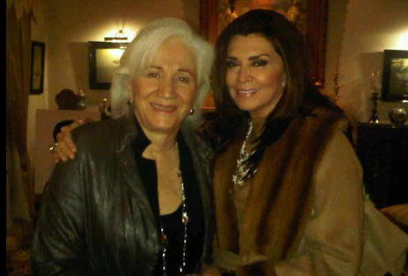 Olympia Dukakis and Mimi Denisi in Cyprus